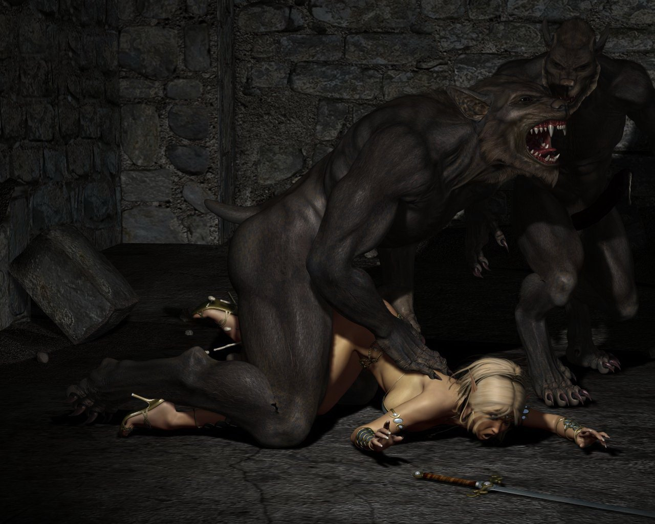 Werewolf porn pics naked images